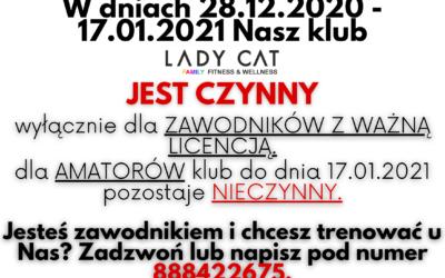Działanie klubu w okresie 28.12.2020 – 17.01.2021